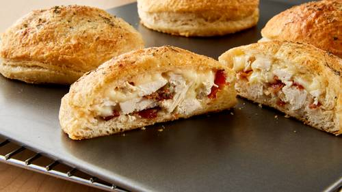 Chicken Bacon Ranch-Stuffed Biscuits